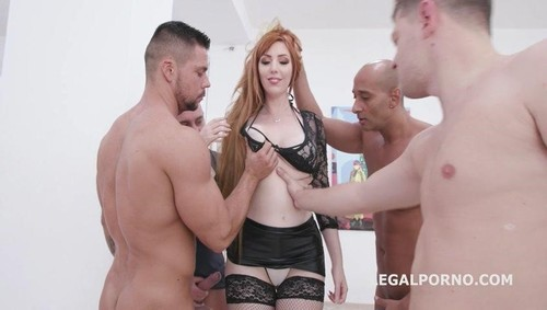 Manhandle, Lauren Phillips Gets 4On1 Rough Sex With Balls Deep Anal, Dap, Gapes And Swallow Gio1270 [SD]