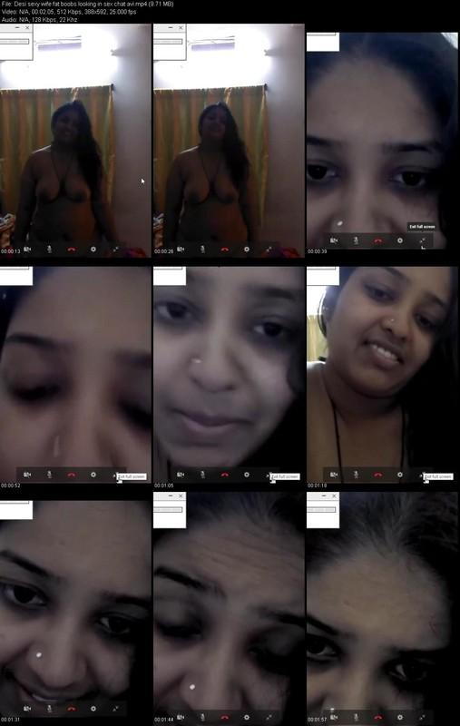 Desi Sexy Wife Fat Boobs Looking In Sex Chat Avi  Desi -2988