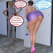 Mature3dcomics - Brooke at the office with boss