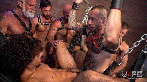 Derek's Leather Daddy Gang Bang Part 2 (Bareback)