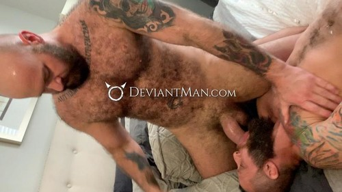 DeviantMan - Daddy's Muscle & Fur Thick Deep Breeding: Luke Harrington & Richard Lionheart Bareback