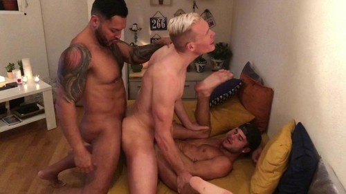 RawFuckClub - Threesome in Madrid: Viktor Rom, Allen King, Aaron Mark Bareback