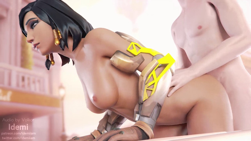 White Meat Fuck Security Chief Pharah From Behind by Idemi | Overwatch Hentai 1