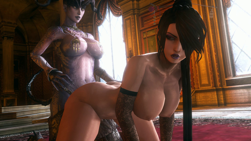 Bent Over, Big Boobs, Black Hair, Crossover, Desire Demon, Doggy Style, Dragon Age, Final Fantasy, Futa on Female, Futanari, Lulu, NoName55 (Artist), Piercings, Sound, Succubus