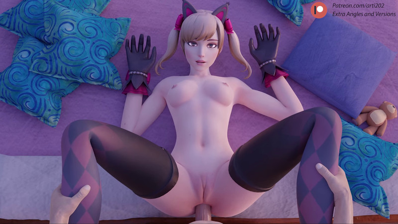 [SFM] Black Cat D.VA Anal Queen by arti202 | Overwatch 3D Animated Porn