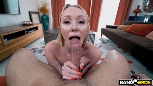 """Athena May in """"Hot Blowjob From Blonde With Braces"""" [SD]"""