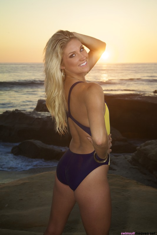 naughty woman Amanda in nike 1 piece swimsuit