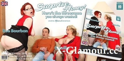 """Camilla C EU 47, Rue Bourbon EU 35 in """"Honey Surprise! Your Big Breasted Threesome Awaits Your Hard Cock!"""" [FullHD]"""