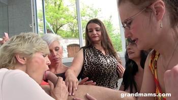 Granny Gym Orgy GrandMams