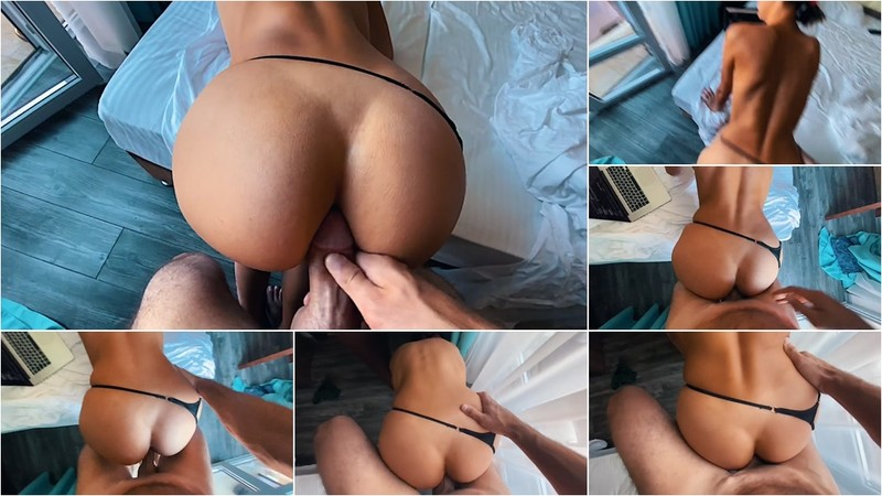 SandyCandy7 - Spanked Sexy Babe, Lubricated her Pussy and Cum inside her at her Request [FullHD 1080P]
