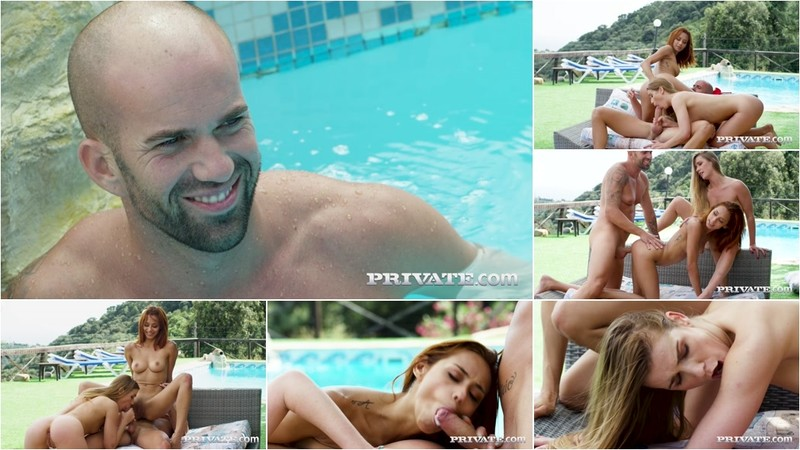Alexis Crystal, Veronica Leal - Poolside Anal Threesome [FullHD 1080P]