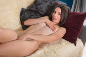 Adel Morel - fingering shaved pussy in panties