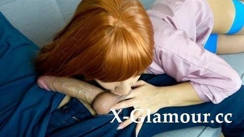 Kriss Kiss - Redhead Slut Gets Cum In Mouth, Deep Blowjob [FullHD/1080p]