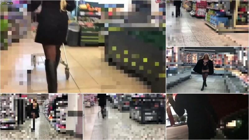 devil-sophie - 10 Minuten Userwette erfuellt - Der Reiterstiefel Strapsen Walk im Einkaufszentrum [FullHD 1080P]