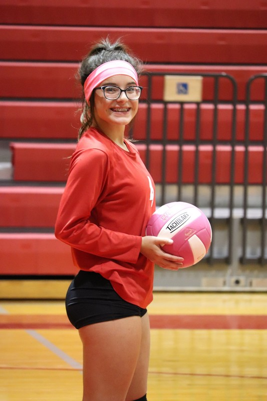 delicious college girls in volleyball uniforms