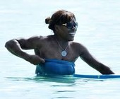 Serena Williams Boob Slip at the Beach