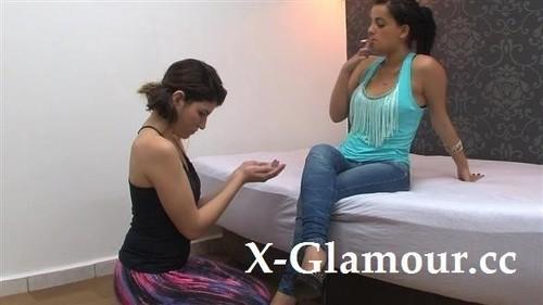 Bruna, Carol Castro - Naughty Latina Babe Humiliating Her Gf [SD/480p]