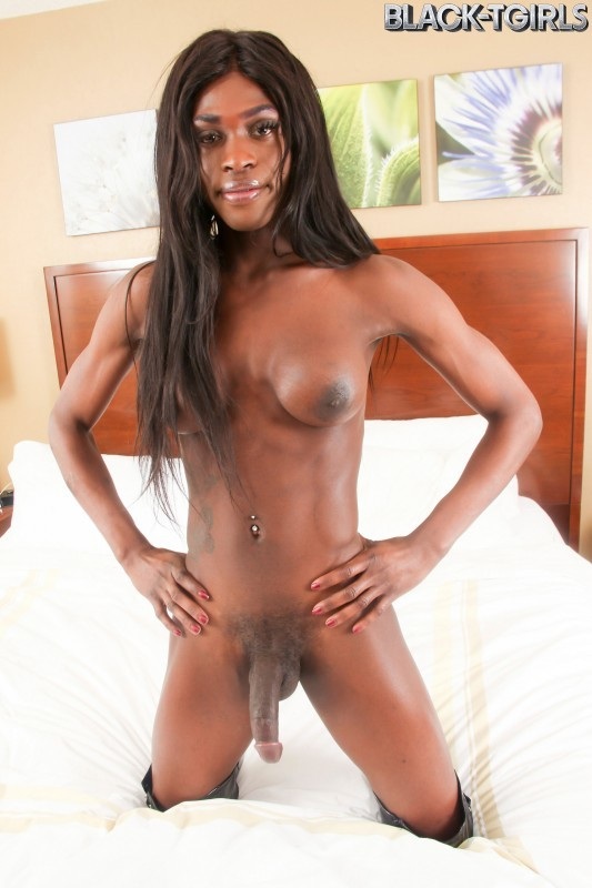 [Black-TGirls] Shannon Pipes - Shannon Pipes Cums!
