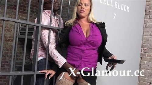 Amber Lynn Bach - Busty Milf Gets Blacked In The Prison (SD)