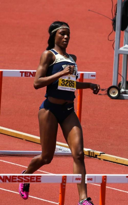 ebony athlete girl in kinky nike uniform