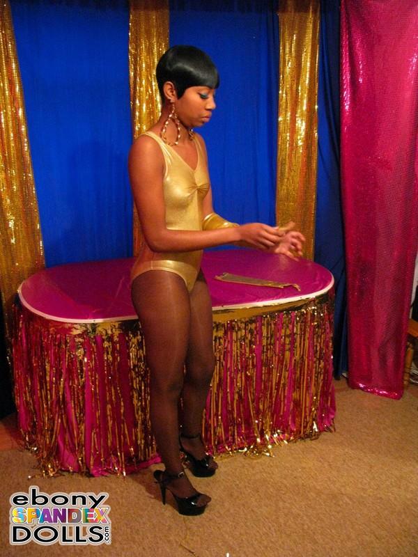 ebony chick Nyhoka leotards & pantyhose gallery
