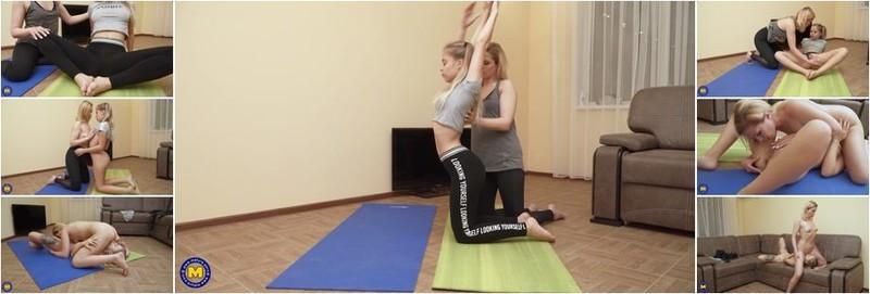 Alika Alba, Monica M. - 18 year old babe taking a yoga class from a lesbian MILF (FullHD)