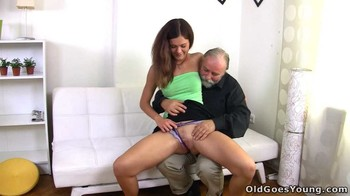 Kalea Taylor - Russian girl having sex with an old bearded man her boyfriend's uncle, 576p