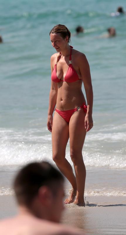 gorgeous milf in red bikini