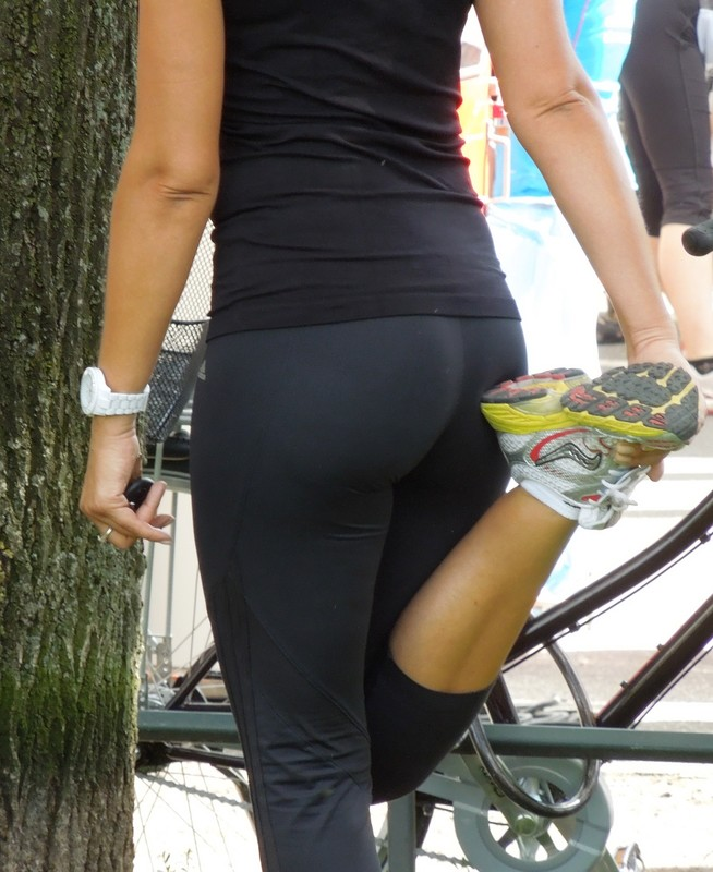 handsome milf jogger in adidas leggings