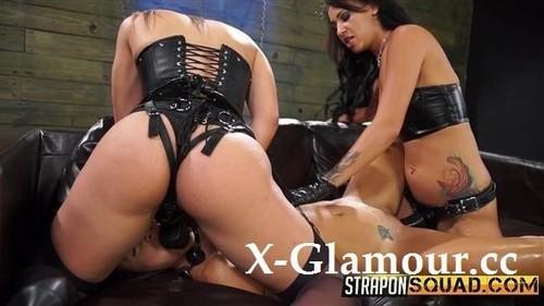 Abella Danger - Straponsquad. Marina Angel Loves Lesbian Double Penetration With Esmi Lee And Abella Danger [HD/720p]