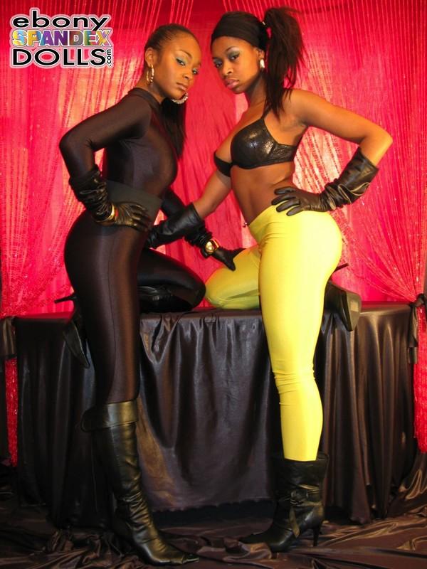 lesbian african girls in tight spandex