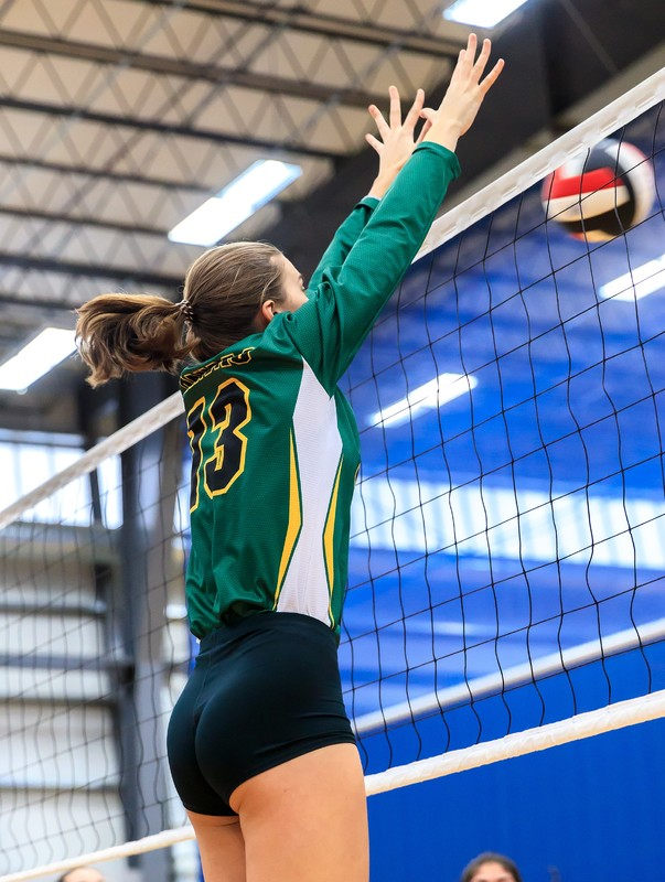 sweet college teens in volleyball shorts