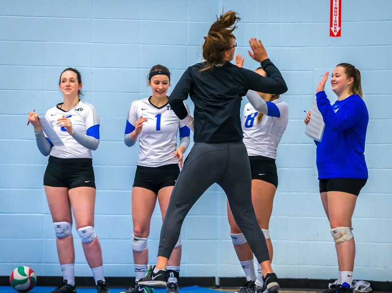 volleyball teens in spandex shorts