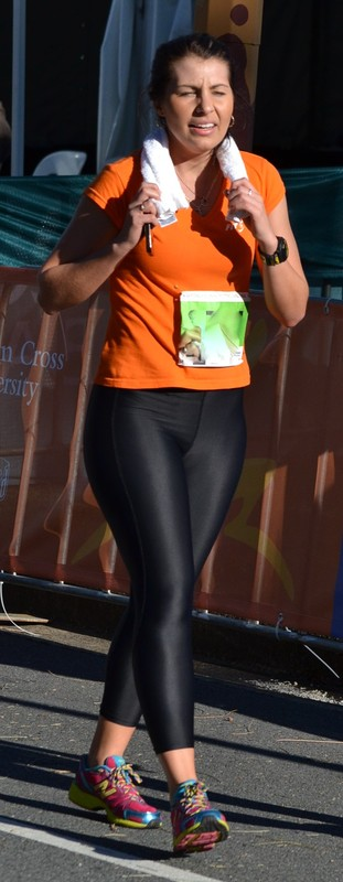 marathon girls in shiny leggings