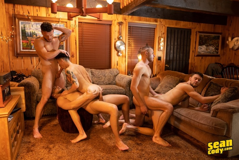 SeanCody - The Cabin Episode 4: Sean, Josh, Cody, Justin, Devy Bareback (Jan 22)