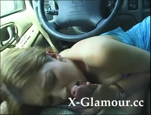 Handling His Hard Penis In The Car [SD]