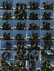[HotFetLife] - HotFetLife - Threesome In Latex Rubber Catisuit  Gas Mask  Pisspants Make Breathplay (2021 / SD 480p)