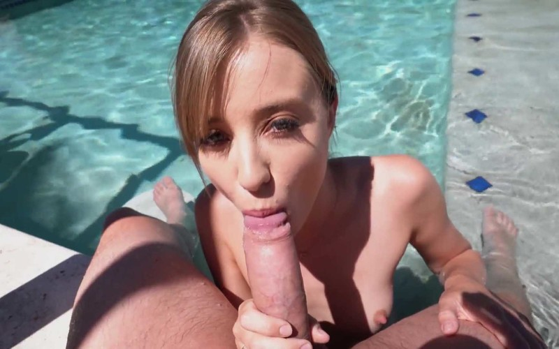Haley Reed - First Date with Blonde Teen Ends with Steamy Fucking by the Pool [FullHD 1.91 GB]