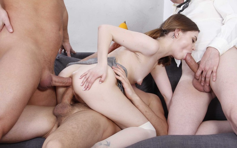 Teen Bella Grey Double Penetration - Screaming Hard Fucking in The Ass - Anal Squirt VK034 [HD 720P]