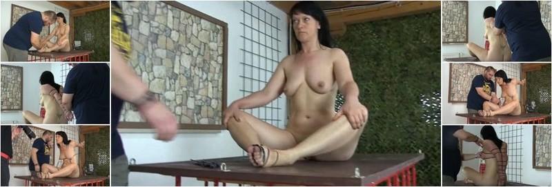 Yvette - Tight elbow zip ties bondage (FullHD)