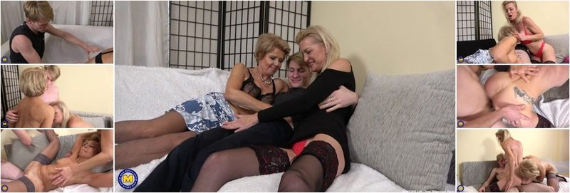 Nina Blond, Romana - A granny and a MILF seduce a young masseur in a threesome (FullHD)