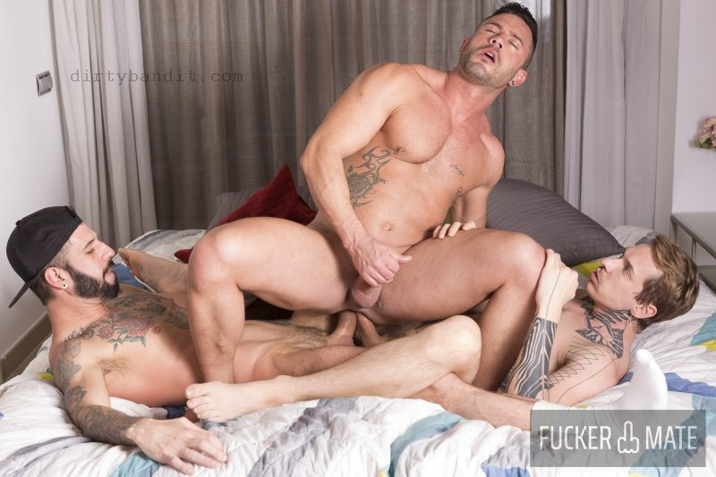 FuckerMate - Double Cocked: Romeo Davis, Robert Royal, Andy Star Bareback (Feb 19)