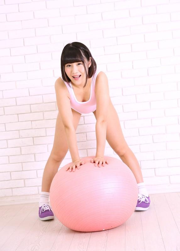 japan aerobics coach Kou Asumi in pink leotards