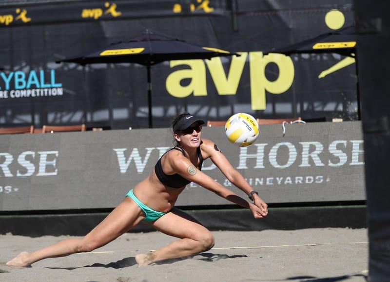 sand volleyball girls in naughty bikini