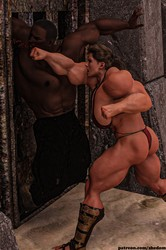 Ahmedtonsy - Muscular Females Dominates Black Guy