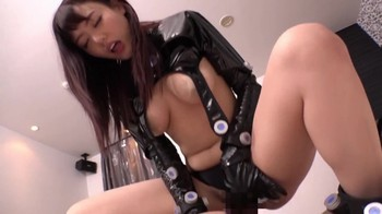 Hypnotized Japanese celebrity fucked by two guys and turned into a super slut