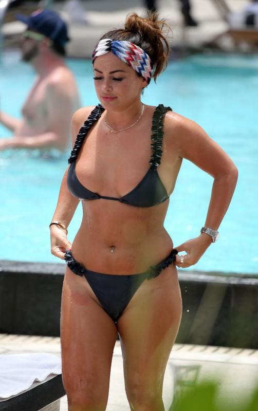 lustful lady Courtney Green in black bikini