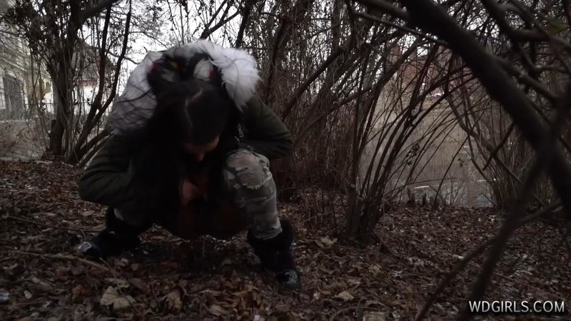 Sara - Drunk girl piss winter [HD 720P]