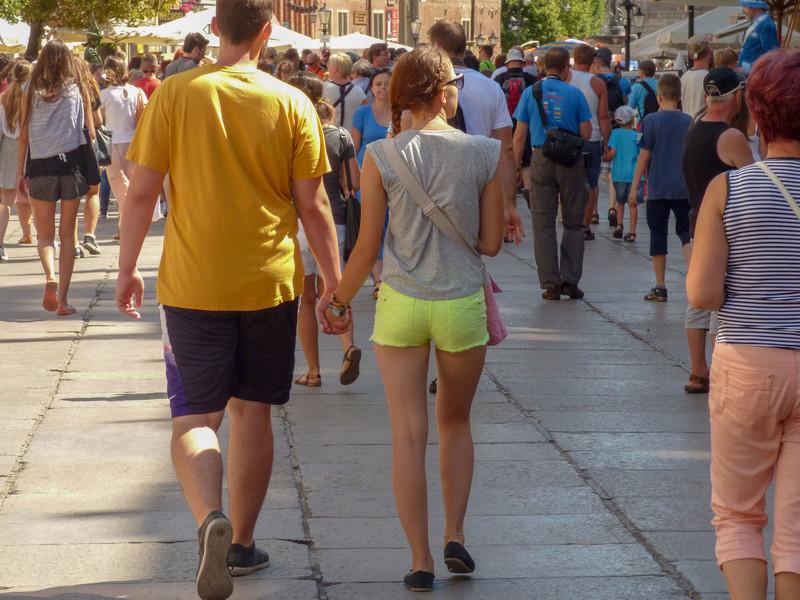 lovely butt in green shorts