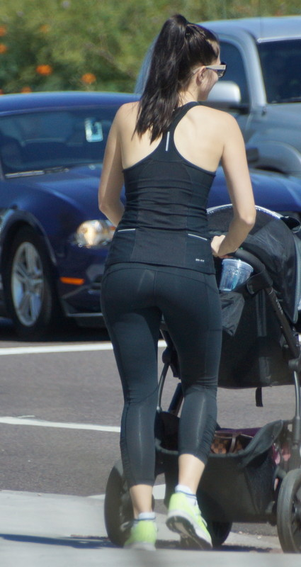 attractive milf in sexy yoga pants